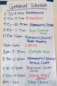 day care schedule